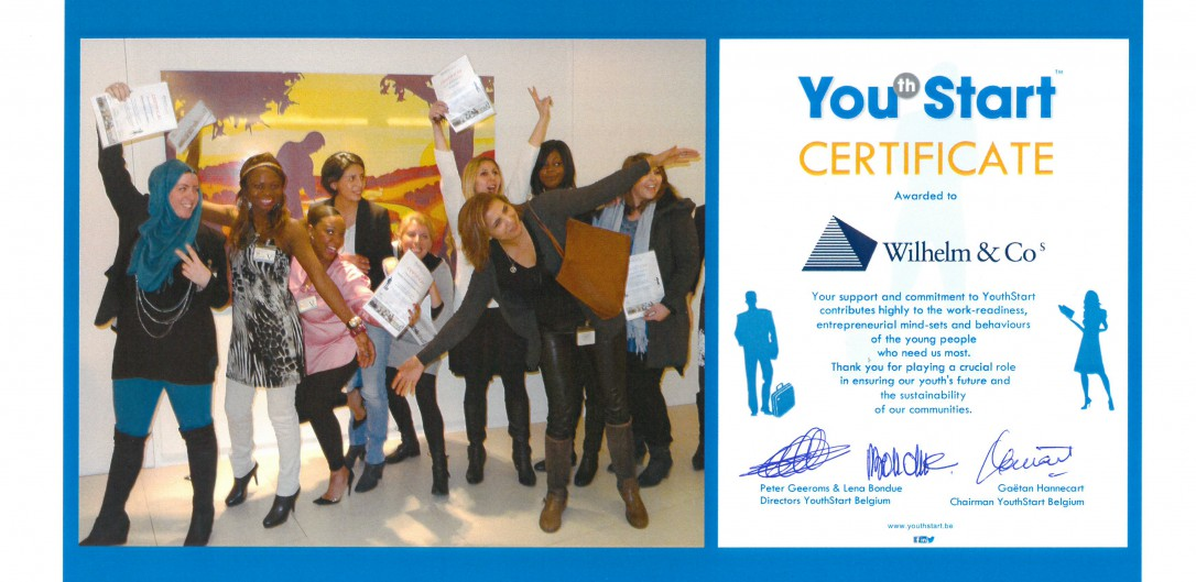 Wilhelm & Co soutient activement Youth Start!